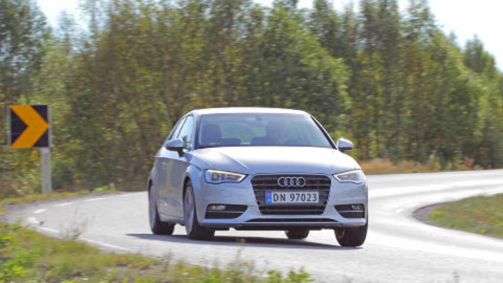 KJEMPER I TOPPEN: Audi A3.