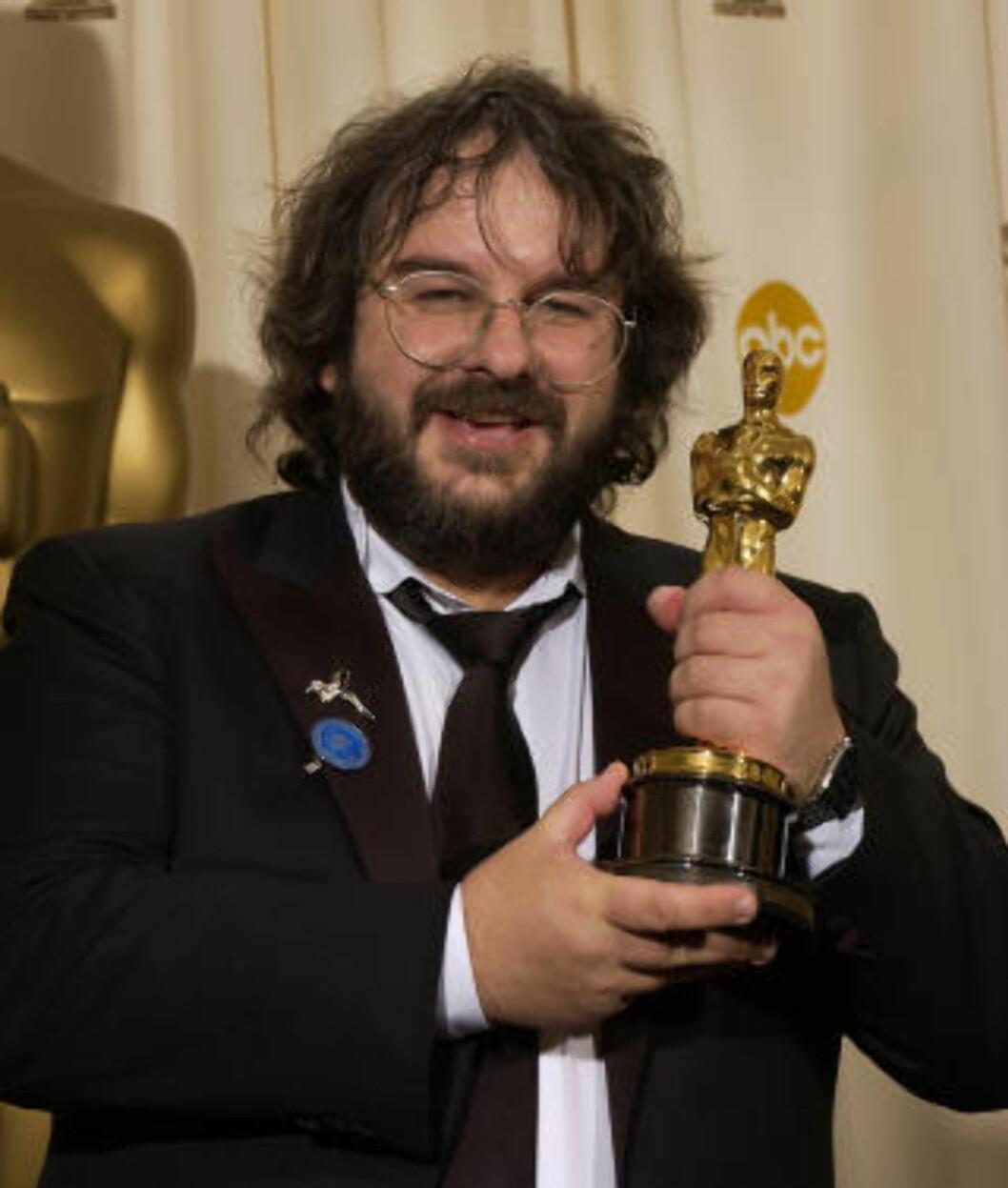 <strong>NY TRILOGI:</strong> Peter Jackson har tidligere regissert «Ringenes herre»-trilogien. Nå har han tatt fatt på en ny filmtrilogi basert på forfatter J.R.R. Tolkiens univers: «Hobbiten». Foto: AP Photo / Reed Saxon / NTB scanpix
