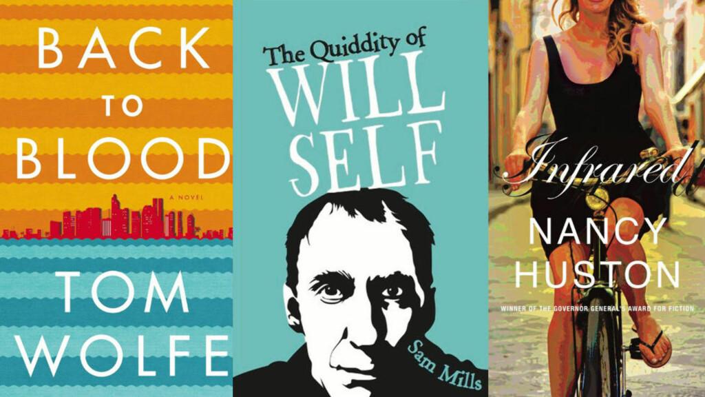 NOMINERTE:  Disse tre bøkene er blant de nominerte til den flaue prisen «Bad sex award». Sitatet i tittelen er hentet fra Sam Mills bok (i midten).