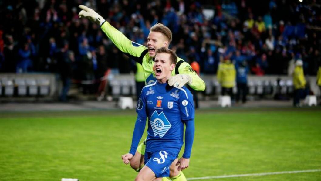 <strong>2,5 ÅR UTEN FOTBALL:</strong> Andreas Rekdal har er bare 23 år, men gikk flere år uten å kunne røre en ball. I dag senket han Tromsø med det femte og avgjørende straffesparket - som han egentlig ikke skulle ta. Foto: Eirik Helland Urke