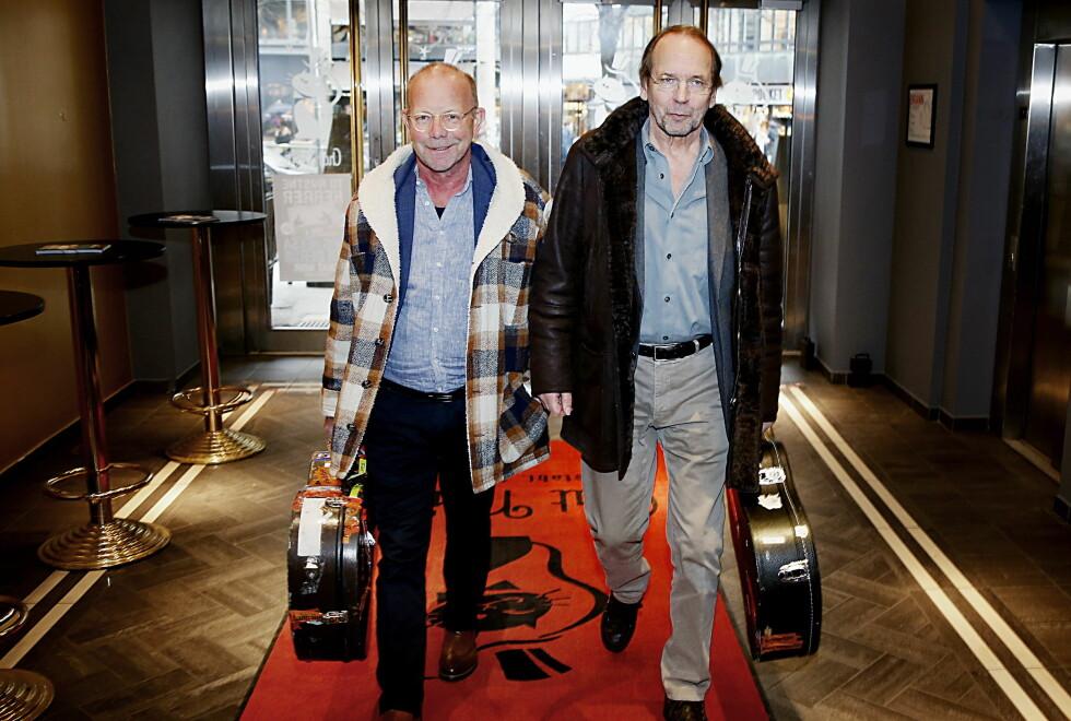TILBAKE: Jonas Fjeld og Ole Paus er enda litt mer rustne enn da de startet for 20 år siden, men det ble både album og show i høst - hvis helsa holder. Foto: Jacques Hvistendahl / Dagbladet