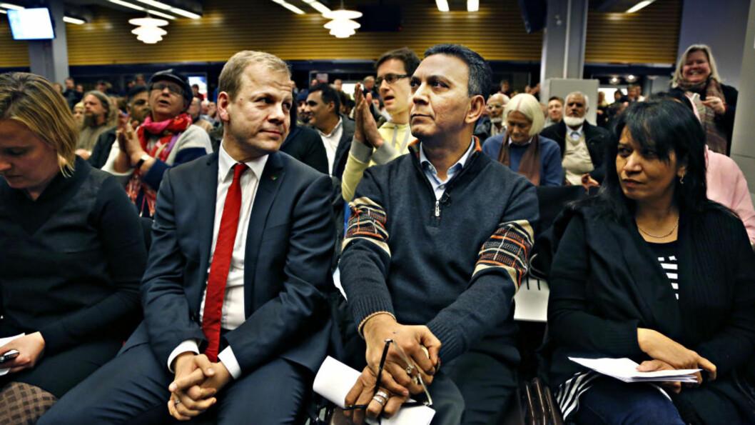 <strong>KAMPVOTERING:</strong> På nominasjonsmøtet i Oslo SV slo Heikki Holmås ut Akhtar Chaudhry i kampen om førsteplassen på stortingslista foran valget neste år. Foto: Jacques Hvistendahl