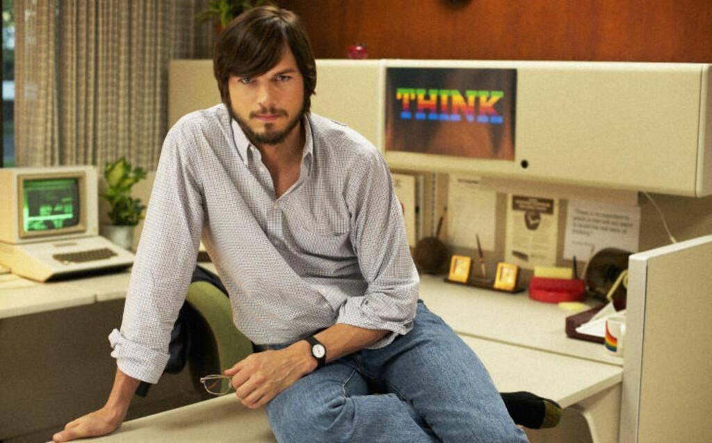 PREMIERE I JANUAR: Filmen «Jobs», med Ashton Kutcher i hovedrollen som Steve Jobs, har premiere på Sundance filmfestival i januar. Foto: AP Photo/Sundance Institute/NTB Scanpix