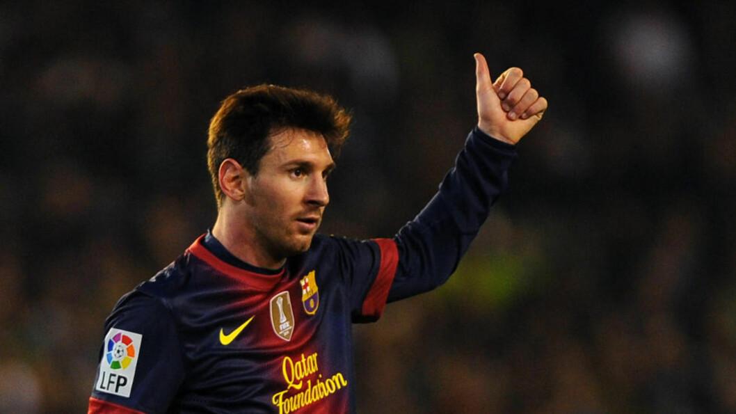 <strong>MÅLKONGE I:</strong> Lionel Messi blir hyllet med rette etter at han nådde 86 mål i 2012 i helga. Men kanskje er han bare nest best. Foto: SCANPIX/AFP/ JORGE GUERRERO