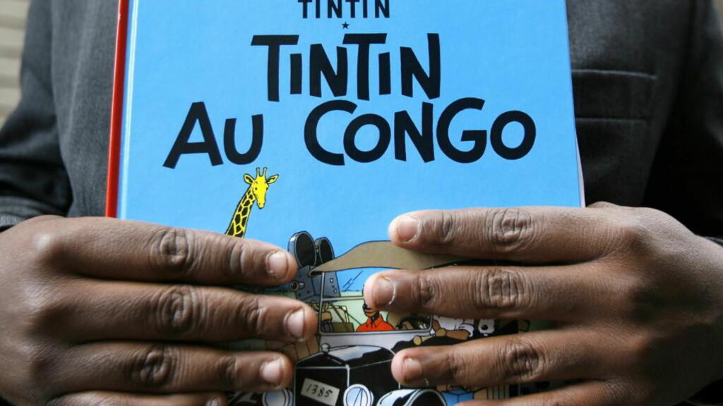 HET POTET: Kontroversen rundt «Tintin i Kongo» har vært en het potet i flere år. Nå har belgiske domstoler sagt sitt. Foto: SEBASTIEN PIRLET / AFP / NTB SCANPIX.