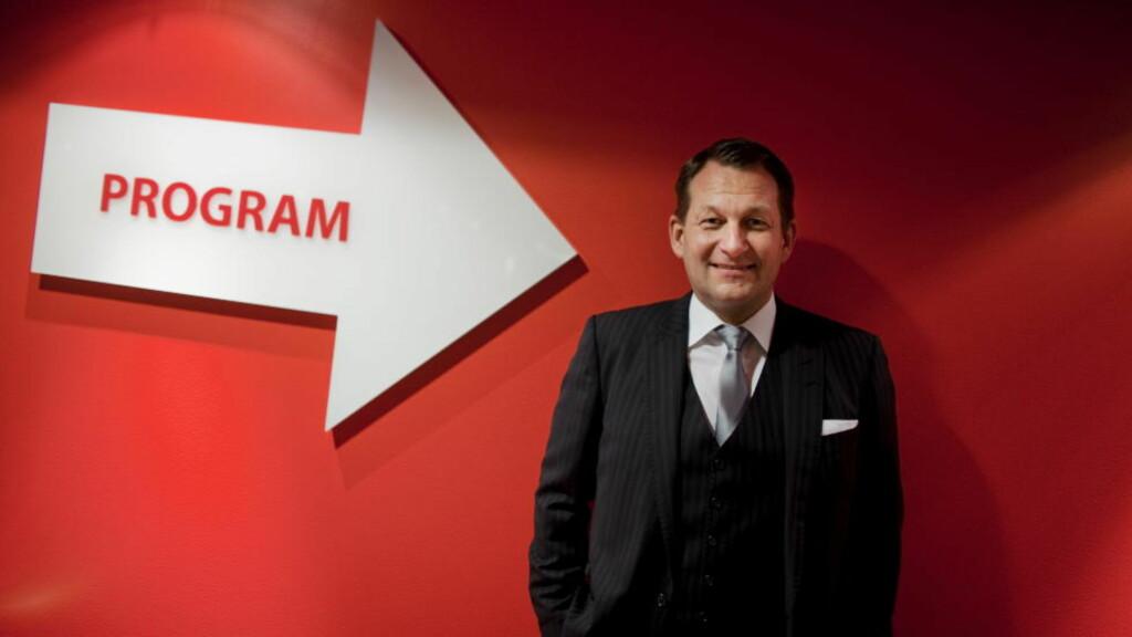FORNØYD: TVNorge-sjef Harald Strømme er glad for å bli innlemmet i Discovery-familien, som blant annet omfatter Discovery Channel, TLC og Animal Planet. Foto: Kyrre Lien / Scanpix .