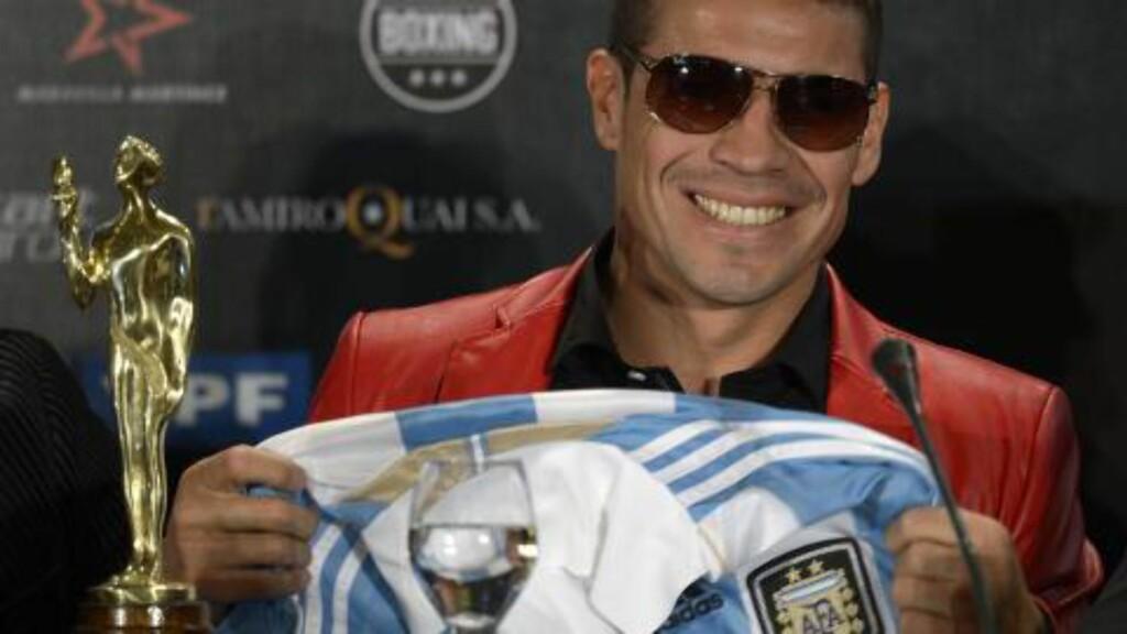 BOKSER: Bokseren Sergio Martinez ble årets idrettsnavn i Argentina. Foto:  AFP PHOTO / Juan Mabromata