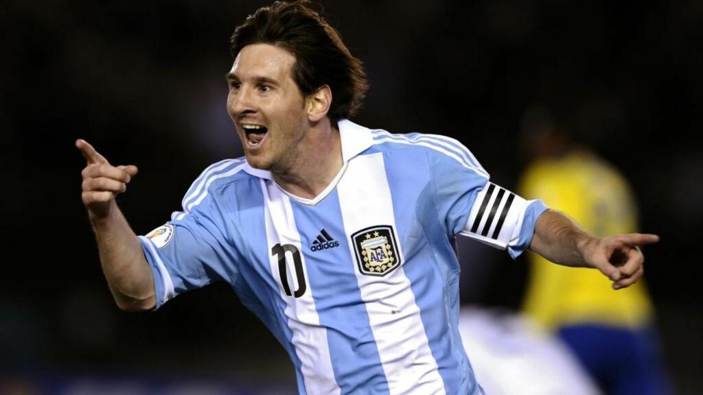 NUMMER TRE: Argentinas Lionel Messi kom på tredjeplass da årets idrettsnavn skulle kåres i hjemlandet. Foto:AFP PHOTO / ALEJANDRO PAGNI