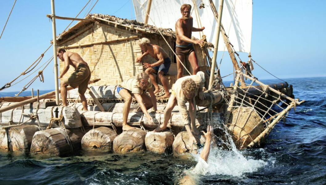 <strong>KAN FÅ GJEV PRIS:</strong> «Kon-Tiki» er «short-listet» til Beste ikke-engelskspråklige film - og er dermed nærmere en Oscar-pris. Foto: Fra filmen