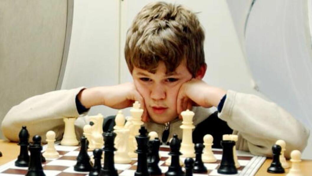 <strong>TIDLIG BEMERKET:</strong> Her var Magnus Carlsen 14 år - og allerede døpt «sjakkens Mozart». Foto Andrea Gjestvang/Dagbladet