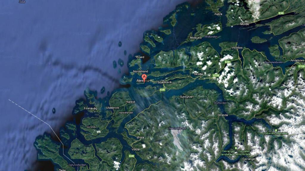 FUNNET DØD:  Mannen ble funnet død i vannet i formiddag. kart: Google Maps
