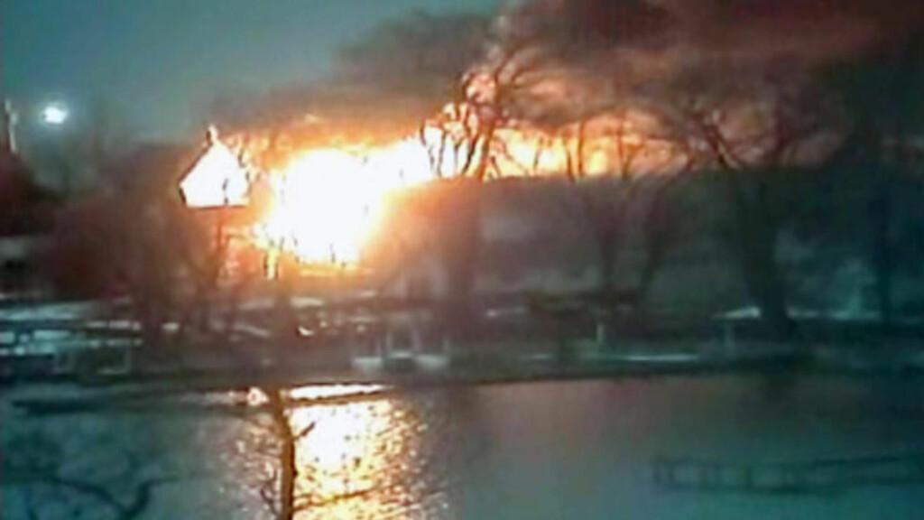 ÅPNET ILD: Fire brannmenn ble drept da de ble beskutt under slukningsarbeid i nærheten av New York i dag. Foto: AP Photo / WHAM13-TV via AP video / NTB Scanpix