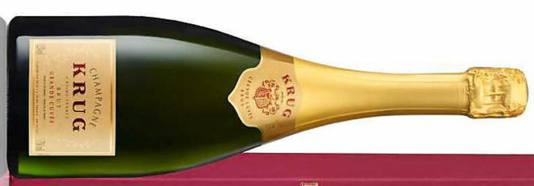 FLOTT, MEN DYR: Krug grande cuvée. Drikk til hummer med kaviarsaus, råder vineksperten.