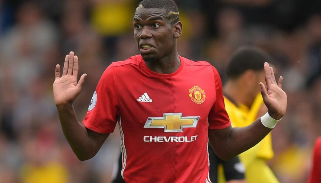 <strong>NEGATIV STATISTIKK:</strong> Paul Pogba sliter med å leve opp til forventningene i Manchester United. Foto:Joe Toth/BPI/REX/Shutterstock