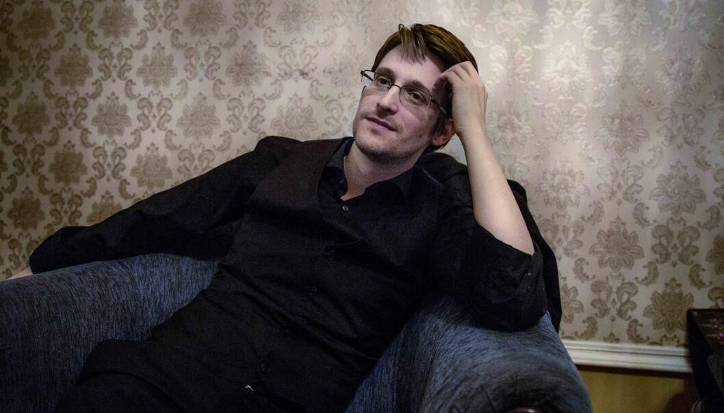 <strong>ASYL:</strong> Edward Snowden bor i Russland hvor han er i asyl. Her ble han intervjuet av svenske Dagens Nyheter i Moskva i 2015. Foto: Lotta Härdelin/ Dagens Nyheter&nbsp;