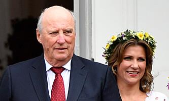 <strong>BETALTE:</strong> Kong Harald betalte byggesaksgebyret for Märtha Louise, etter at hoffet tok over ansvaret for utbyggingen. Foto: Lise Åserud / NTB scanpix