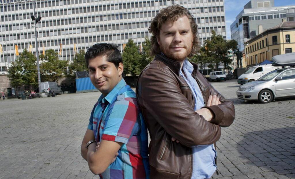 DEBATT-DEBATTEN:  Fpu-leder Himanshu Gulati og SU-leder Andras Halse garanterer at de vil møtes til politisk duell neste år. Foto: Kjetil Magne Sørenes / Dagbladet