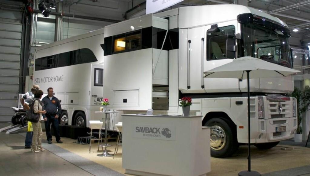 ENORM: Denne utstillingsbilen kan bli din - for 325 000 euro pluss moms. Foto: Geir Svardal