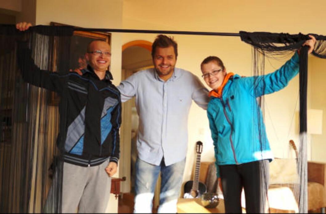 INTERIØR: Dette paret fikk ei gardinstang. Foto: NORSK TIPPING