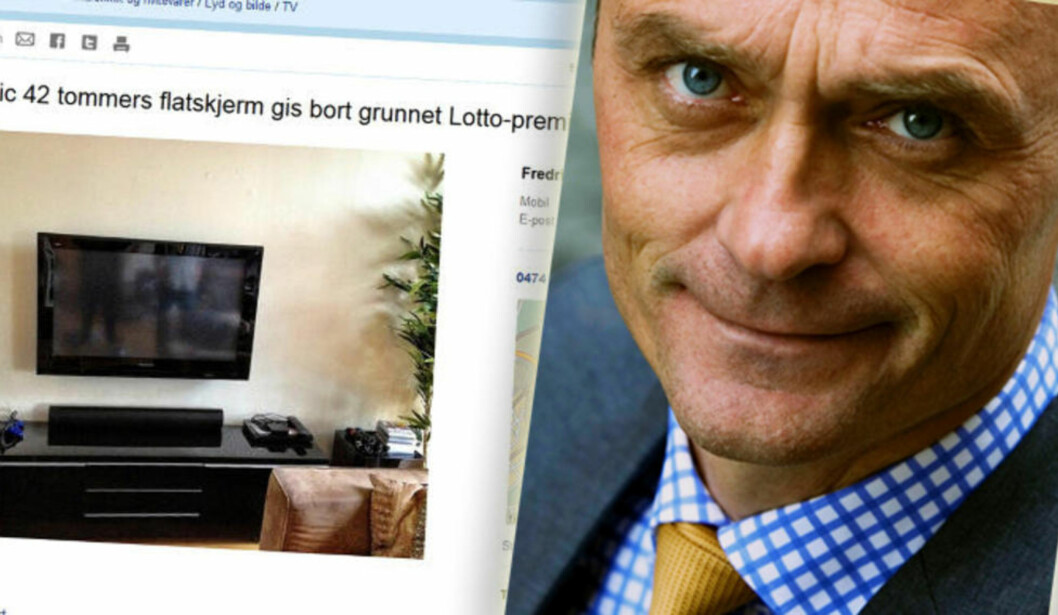KRITISK: Jarle Aabø har lite til overs for PR-stuntet fra Norsk Tipping. Foto: Skjermdump/Johnny Syversen