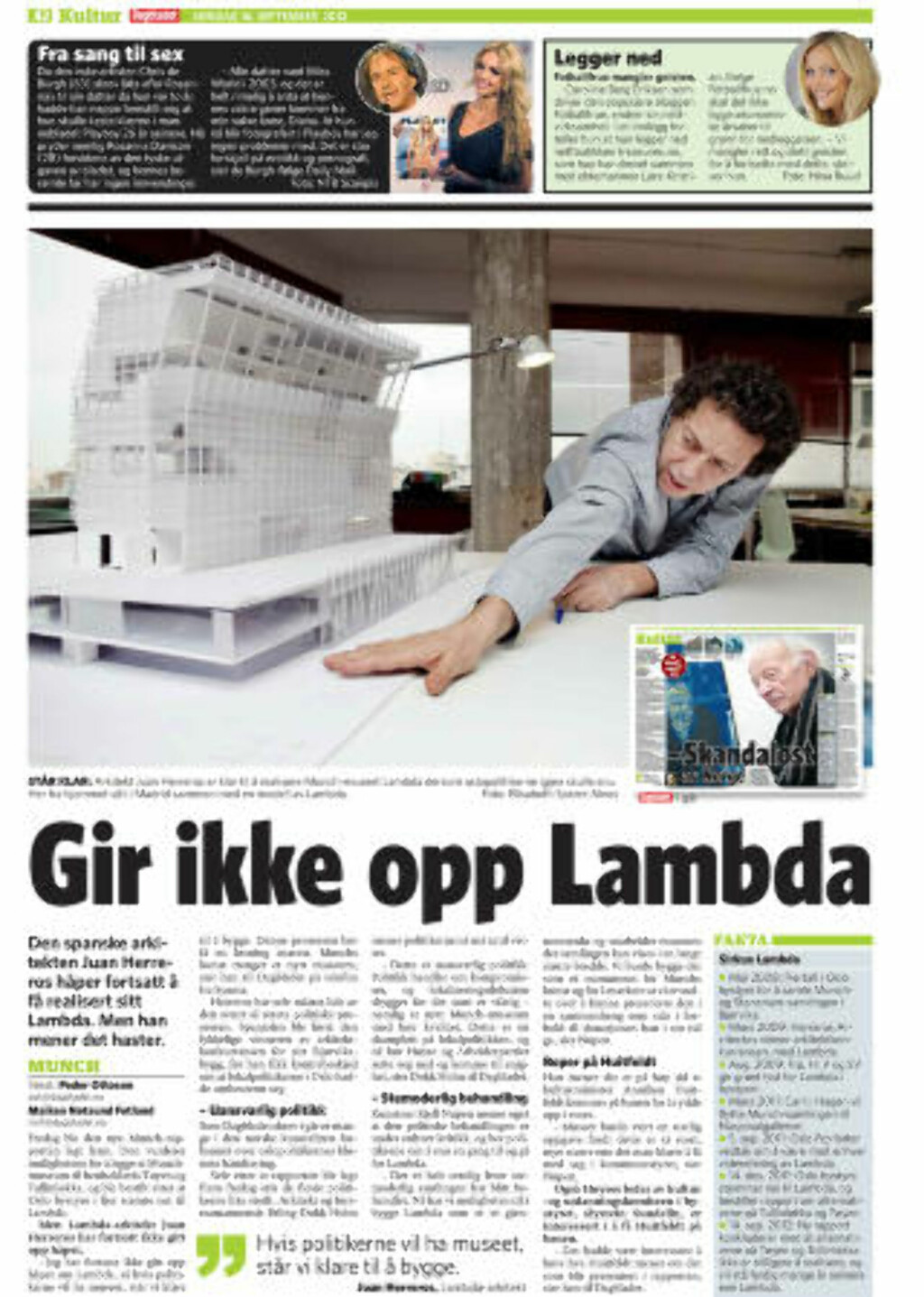 FAKSIMILE: Dagbladet 16. september 2012.