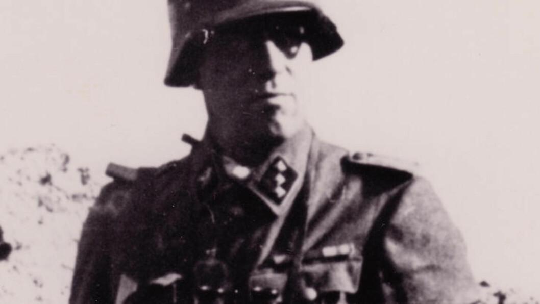 <strong>SS-OFFISER:</strong> Den norske SS-offiseren Fridtjof Georg Henriksen var direkte ansvarlig for drap på hundrevis av uskyldige under krigen.&nbsp; I egenskap av offiser, deltok han i administreringen av flere tusen drap.&nbsp; - En absolutt massemorder, sier historikeren Mathew Kott om ham.&nbsp; Foto: Geir Brendens arkiv