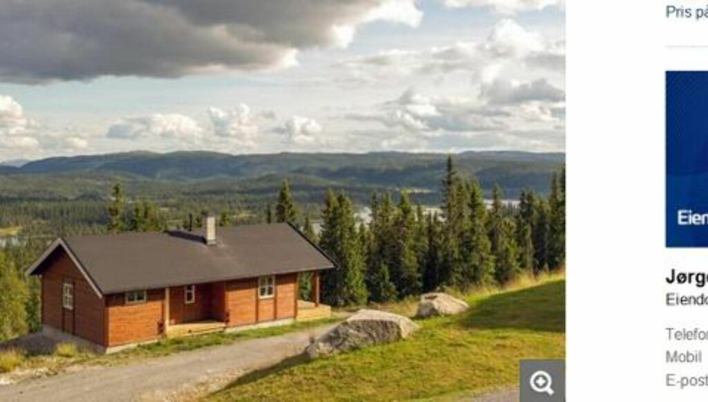 TIL SALGS: Hytte på Buvatn med tre soverom. Primærrom 62 kvm. Byggeår 2012. Prisantydning 1 590 000 kroner.   Foto: Faksimile/Finn.no