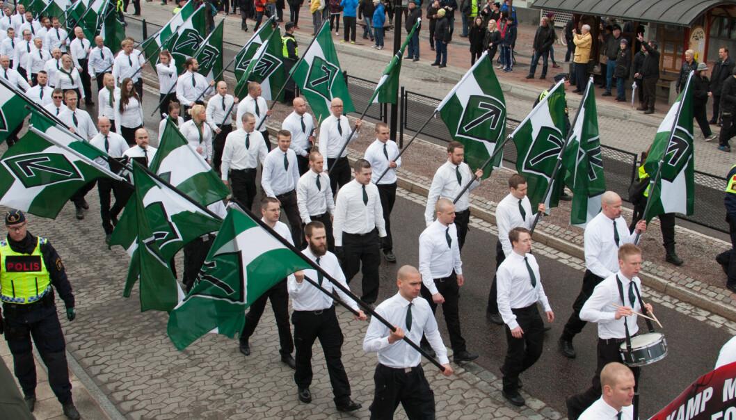 I fjor: Holdt nynazistleir i Telemark. Uka etter døde en mann etter vold under gruppas demonstrasjon i Finland