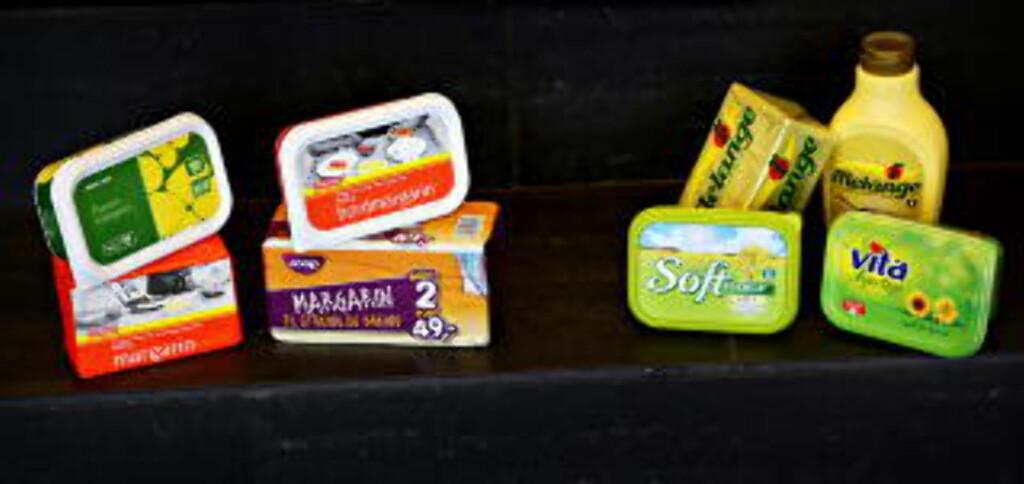 FETT NOK  Smør og margarin er fett i seg selv, og både Bremyk, Soft Flora, Melange og Vita hjertego er uten palmeolje. Foto: Jacques Hvistendahl