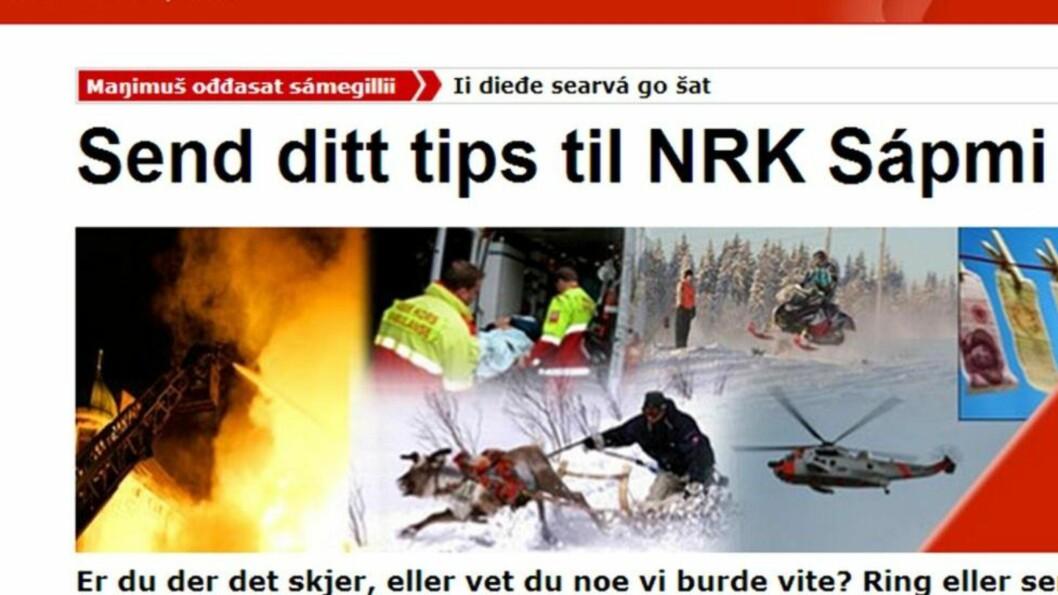 <strong>LURTE POLITIET:</strong> NRK Sápmi holdt øvelse internt i redaksjonen og lurte politiet trill rundt med en melding om en mulig dødsulykke.