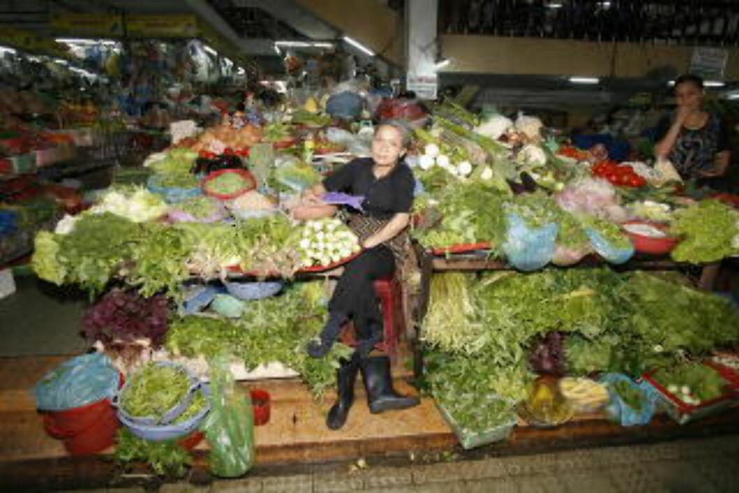 FERSKE RÅVARER: Matmarkedene bugner over av ferske råvarer. Foto: TORMOD BRENNA