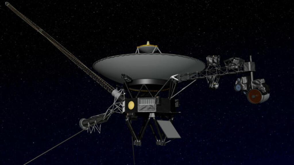 VOYAGER 1: Denne grafikken viser hvordan den 34 år gamle romsonden ser ut. Foto: NASA/JPL-Caltech