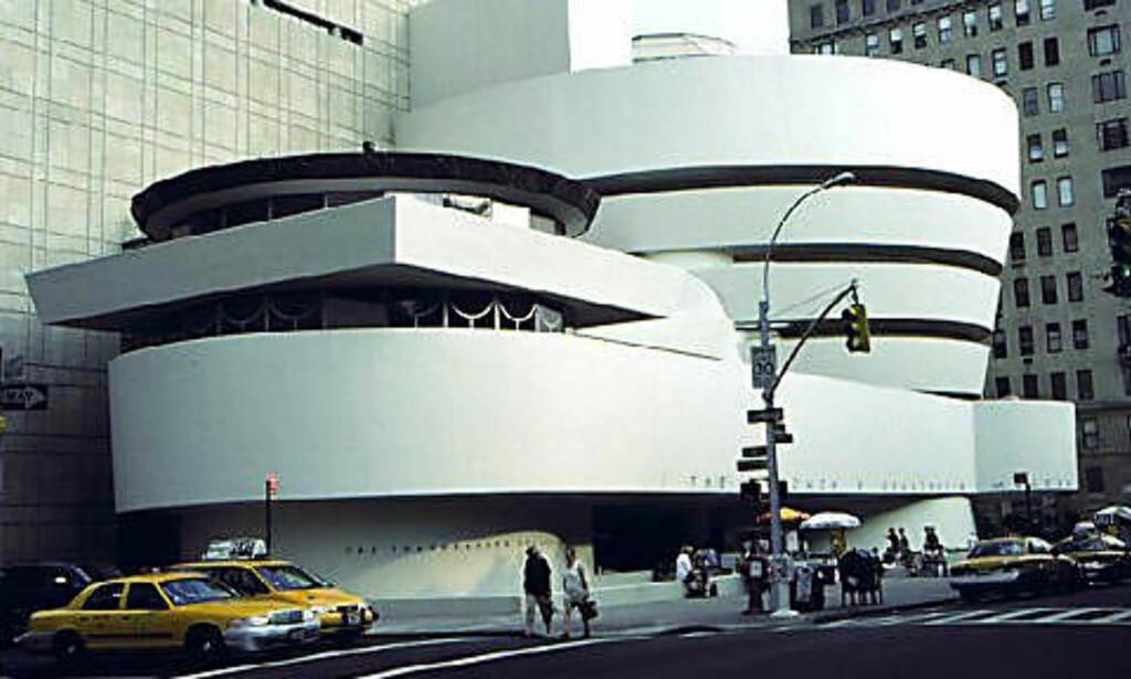 GUGGENHEIM-MUSEET: Arkitekten Frank Lloyd Wright står bak bygget i New York, huset er en attraksjon i seg selv. Foto: Thinkstock