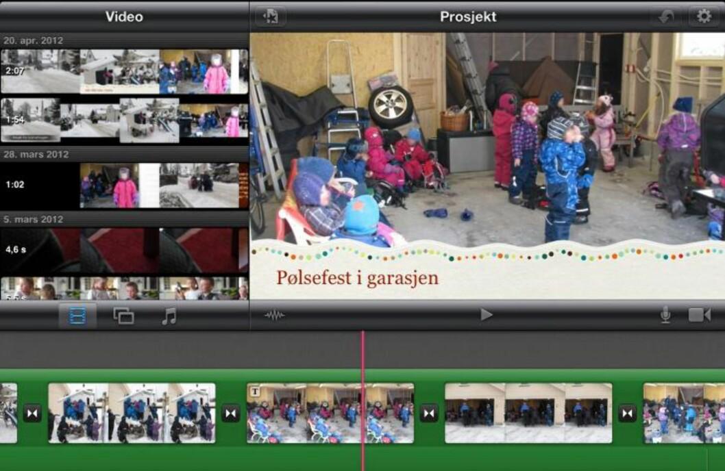 IMOVIE: Fotoredigering med iMovie på iPad er enkelt og moro. Ikke veldig avansert, men det fungerer. HjemmePC/skjermbilder
