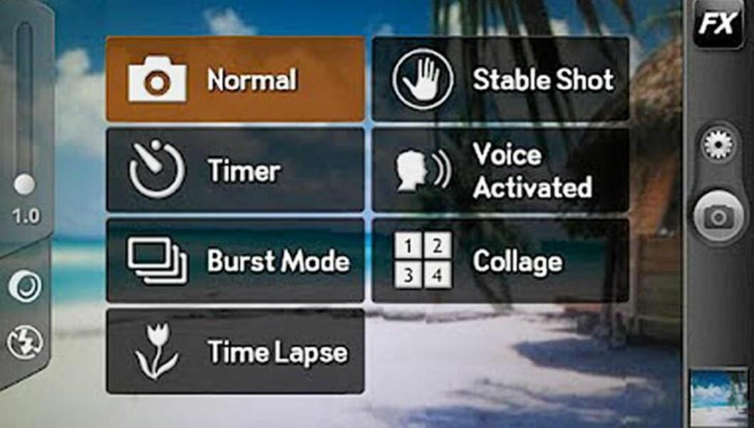 CAMERA ZOOM FX: Funksjonsrik kameraapp for Android. HjemmePC/skjermbilder