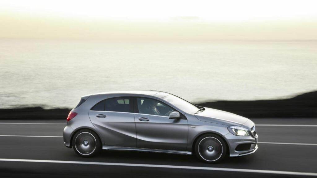 UMISKJENNELIG: Mercedes har fått orden på designen den siste tiden og A-klassen er intet unntak.