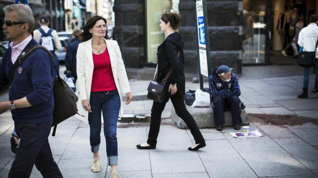 <strong>- RO DEBATTEN:</strong> AP-politiker og varaordfører Libe Rieber-Mohn sier at det er viktig å huske at det ikke bare er romfolket som bor på gata. Foto: Sondre Steen Holvik / Dagbladet