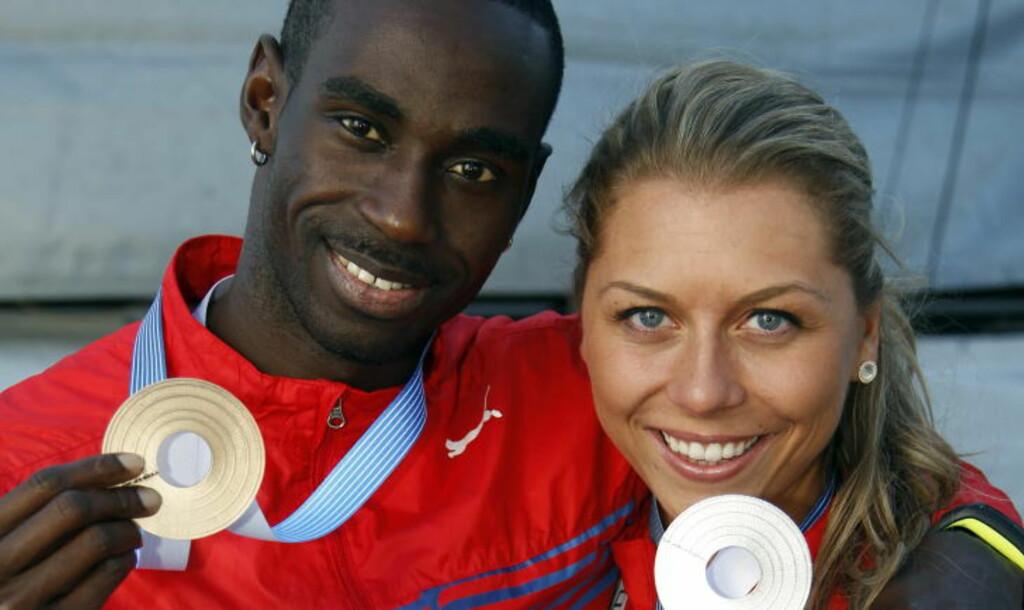 TIL OL: Tonje Angelsen og Yasume Saidy Ndure skal til OL i London.  Foto: Lise Åserud / NTB scanpix