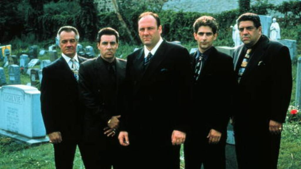 SOPRANOS: Foruten suksesserien Sopranos, har Van Zandt (nummer to fra venstre) også hatt en liten rolle i Hotel Cæsar og en hovedrollen i suksessen Lilyhammer. Foto: NRK