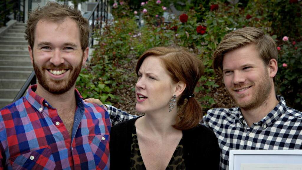 BERIKET: Eyolf Dale (tv), Anja Eline Skybakmoen og André Roligheten hadde en innbringende dag i Molde i går. FOTO: LARS EIVIND BONES/DAGBLADET