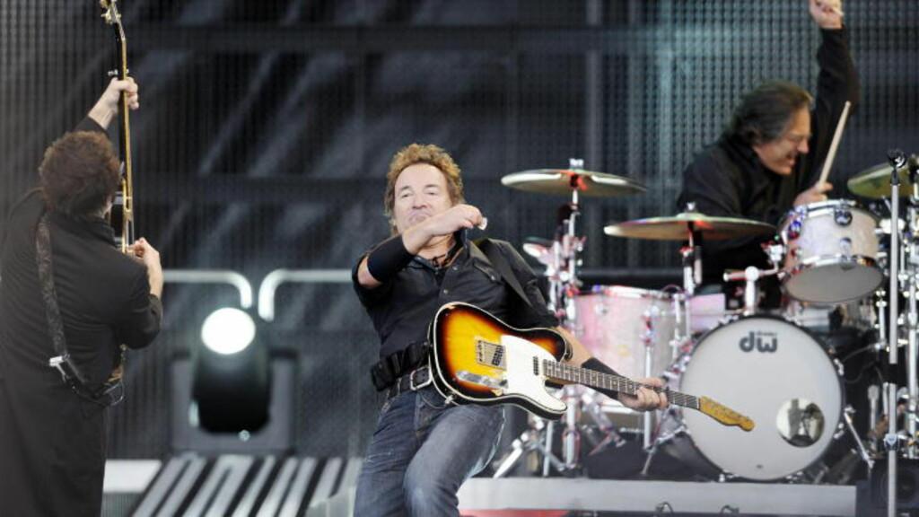 I NORGE: Bruce Springsteen ankom Norge et par timer før han spilte på Valle Hovin lørdag. Kanskje dukker han også opp på scenen under kveldens minnekonsert? Foto: John T. Pedersen/Dagbladet