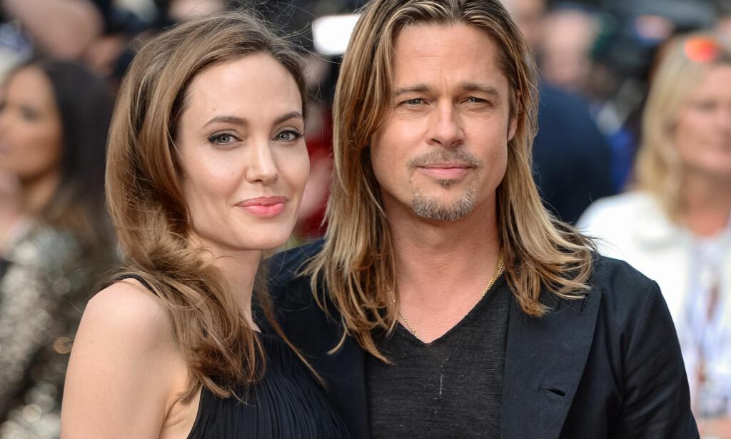 <b>SLUTT:</b> I dag ble det kjent at Angelina Jolie går fra Brad Pitt. Dette bildet er tatt i 2013. Foto: NTB Scanpix