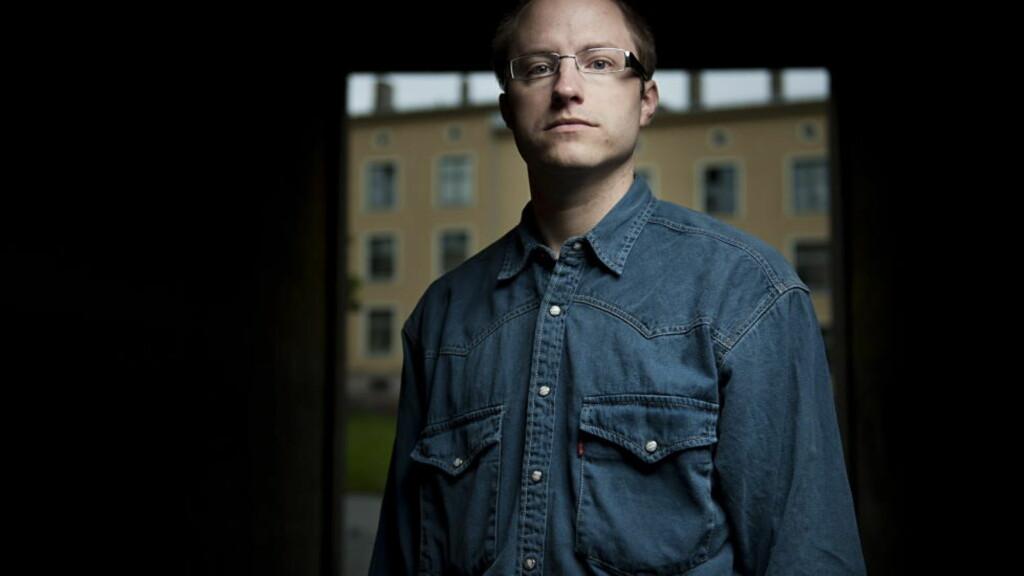 TILHENGERE:  Antifeminist og blogger Eivind Berge hevder han har 1500 unike lesere hver dag. Foto: Benjamin Ward