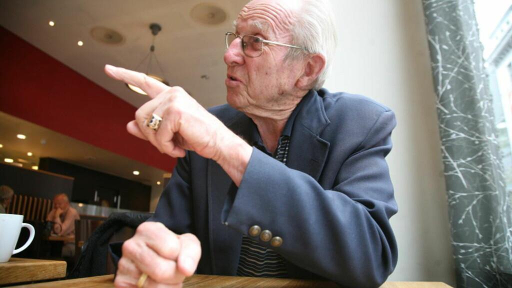 OMSTRIDT: Fredrik Jensen - den høyest dekorerte nordmannen i Waffen-SS - døde i fjor, 90 år gammel. Nå går datteren hans til Høyesterett for å få landsvikdommen over faren opphevet. Foto: Asbjørn Svarstad