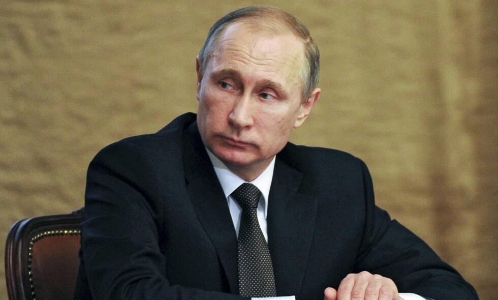 PRESIDENT: Russlands president Vladimir Putin. Den britiske etterretningssjefen mener at Russlands opptreden i Syria vil føre til at landet blir en ørken. Foto: NTB Scanpix