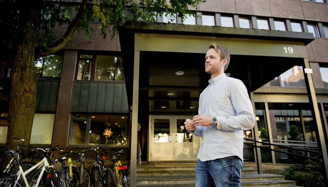 <strong>FÅR NEI:</strong> Plan- og bygningsetaten (PBE) i Oslo kommune og Oslos rødgrønne byråd protesterer mot Stratons planer for Herslebs gate 19. Her ved dagligleder Anders Bratholm. Foto: Håkon Sæbø / Finansavisen