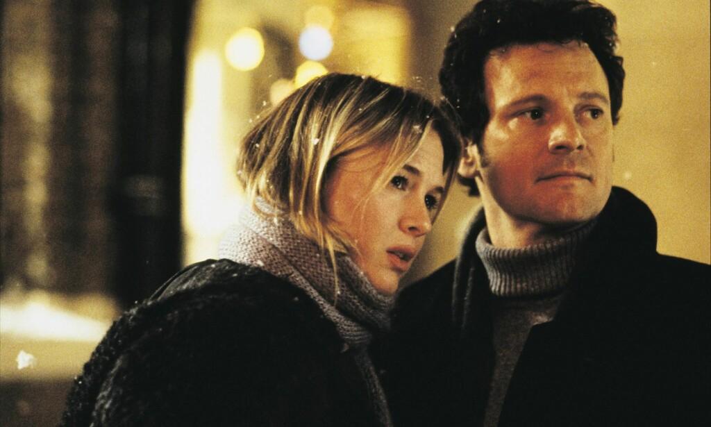 Den gang da: Renée Zellweger sammen med Colin Firth i den første filmen om Bridget Jones. Filmen kom ut i 2001, altså for 15 år siden. Foto: NTB SCANPIX