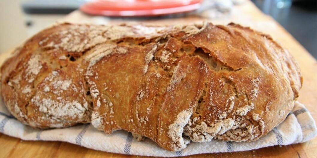 <strong>KNALLGODT BRØD:</strong> Du klarer ikke bake bedre brød enn det her. FOTO: Christopher Sjuve