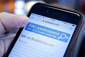 <strong>HALVT ÅR MED BRÅK:</strong> Skattelisten.info holdt det gående i et halvt år, men nå ser det ut til å være slutt. Foto: Ole Petter Baugerød Stokke
