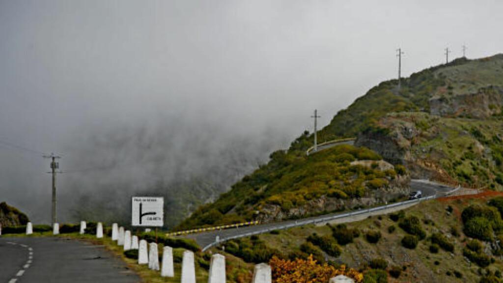 KONTRASTER: Madeira er en ferieøy som byr på overraskelser. Mens det er 22 grader i solskinnet ved havet, kan det være seks-syv grader og tåkebanker oppe på fjellet, bare en halvtimes kjøretur unna.